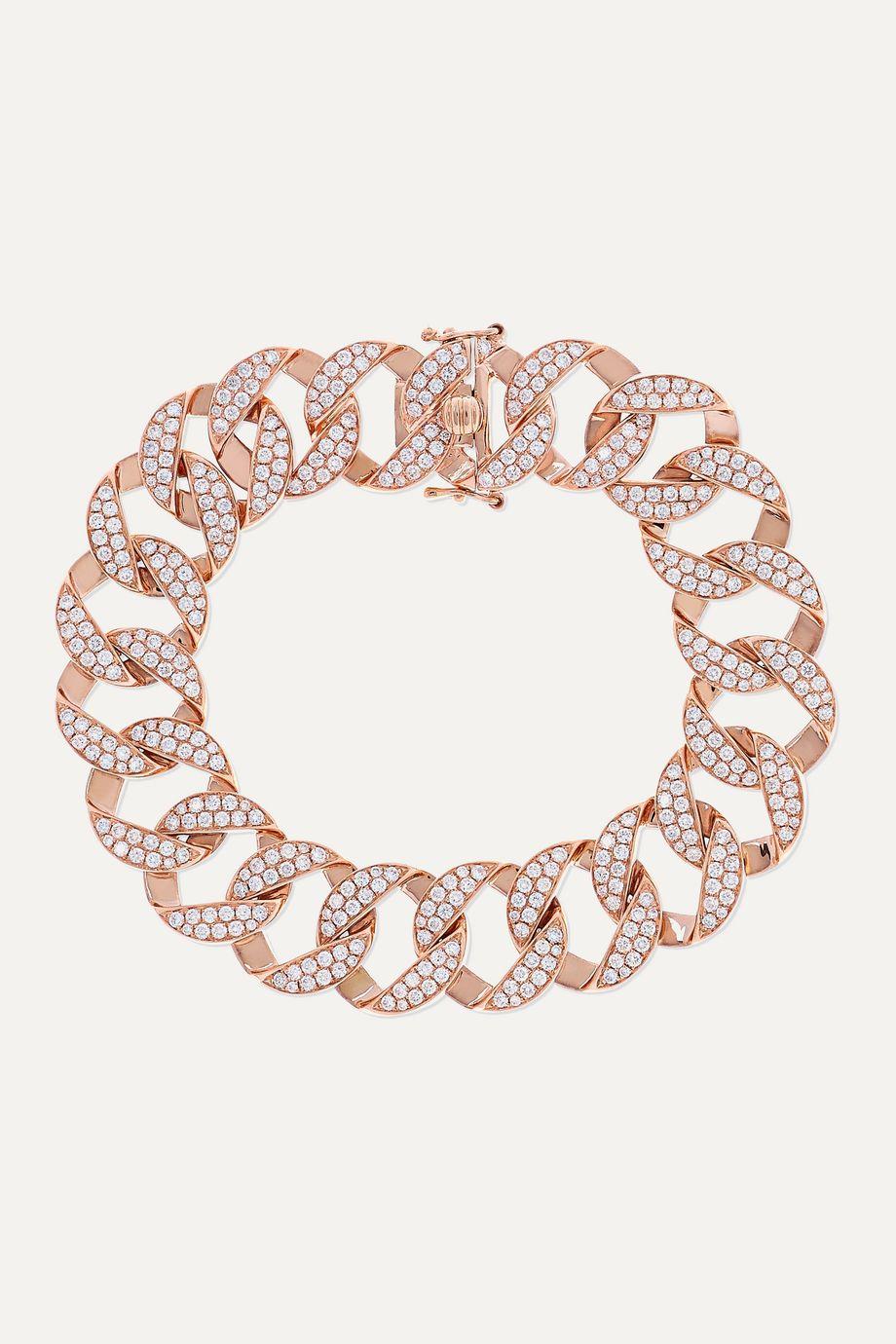 Anita Ko Bracelet en or rose 18carats et diamants