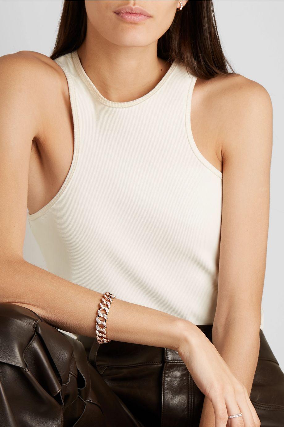 Anita Ko Armband aus 18 Karat Roségold mit Diamanten