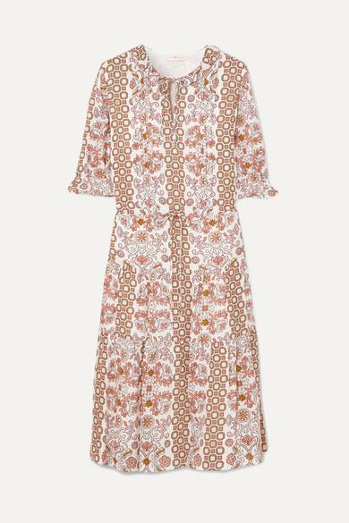 511dae40bcfb9e Tory Burch. Serena printed silk dress