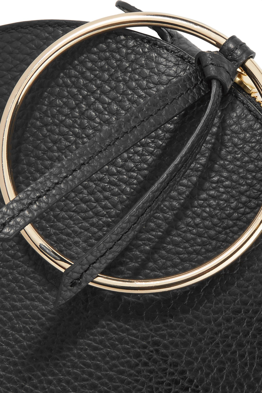 Sara Battaglia Bracelet textured-leather clutch