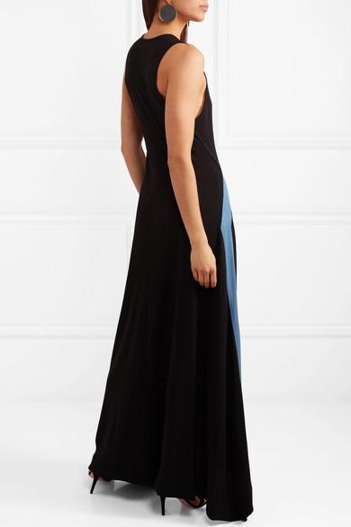 Cheap Sale Websites Frankie Asymmetric Jersey Maxi Dress - Black Tory Burch Discount Perfect Cheap Very Cheap Latest Collections VzkH5
