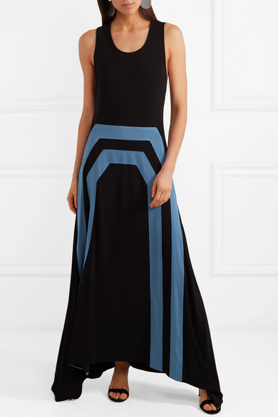 Frankie Asymmetric Jersey Maxi Dress - Black Tory Burch pHXiuTnU