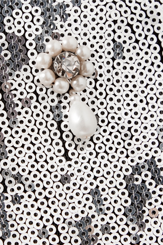 Erdem Tahira embellished sequined georgette skirt