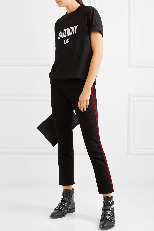 Givenchy Bottines en cuir à clous Elegant