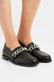 Givenchy Chain-trimmed leather loafers
