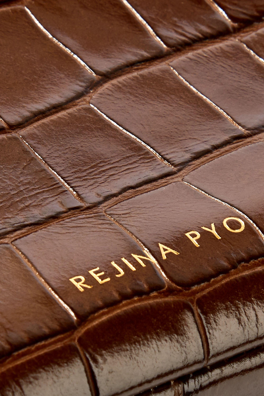 REJINA PYO Rita croc-effect leather bucket bag