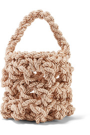 Sylvia woven satin shoulder bag