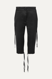Ann Demeulemeester Cropped satin slim-fit pants