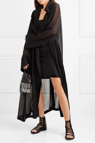 Ann Demeulemeester Mini Dress In Crêpe De Chine