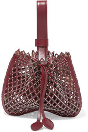 Alaïa Studded laser-cut leather bucket bag
