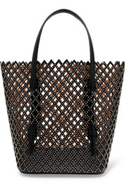 Alaïa Studded laser-cut leather tote