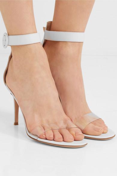 64bd38ef77e Gianvito Rossi. Portofino 85 PVC-trimmed leather sandals