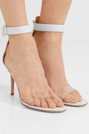Portofino 85 PVC-trimmed leather sandals