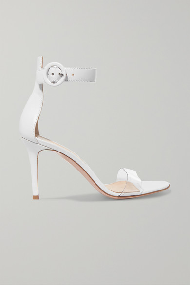 2311baaf9a Gianvito Rossi | Portofino 85 PVC-trimmed leather sandals | NET-A ...