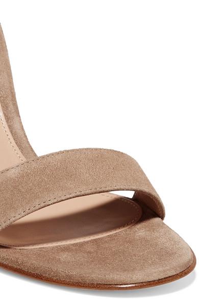 Gianvito Rossi Portofino 100 Sandalen aus Veloursleder Zum Verkauf Rabatt Verkauf Freiraum Für Verkauf Niedrige Versandgebühr Verkauf Online A7eQS