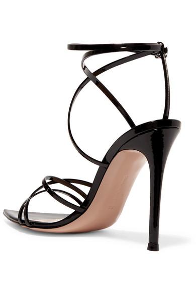 Bestpreis Online-Shopping Zum Verkauf Gianvito Rossi 105 Sandalen aus Lackleder Billig Verkauf 2018 Bester Platz b3C0BM