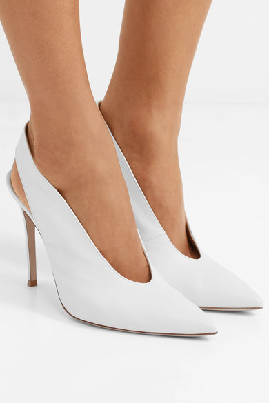Gianvito Rossi 100 Pumps In Leather With Slingback-belt