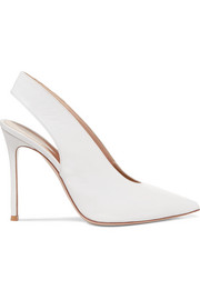 Gianvito Rossi 100 leather slingback pumps