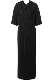 The Row Bello wrap-effect plissé-jersey maxi dress