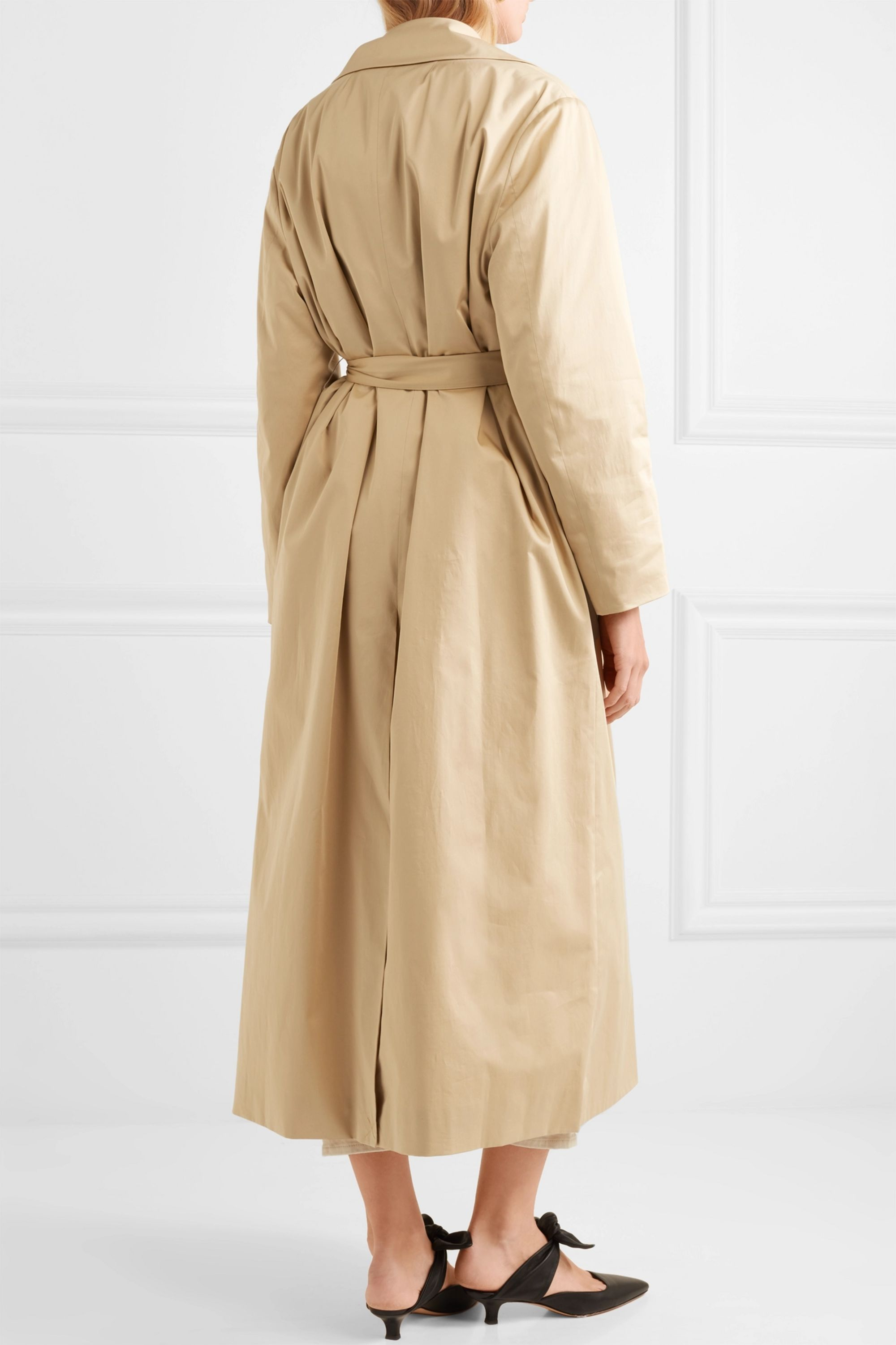 The Row Moora cotton-blend poplin trench coat
