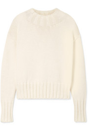 The Row Gracie oversized cotton-blend sweater