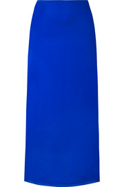 The Row Stratski washed silk-charmeuse midi skirt