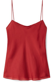 The Row Biggins matte silk-satin camisole