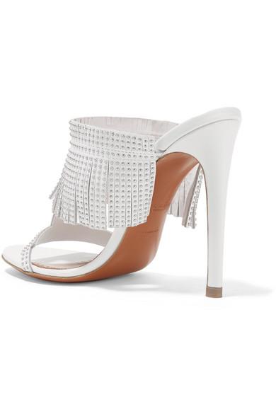 Alaïa   110 Sandalen aus Fransen Leder mit Nieten und Fransen aus 2aa027