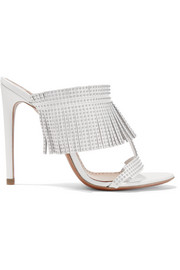 Alaïa 110 studded fringed leather sandals