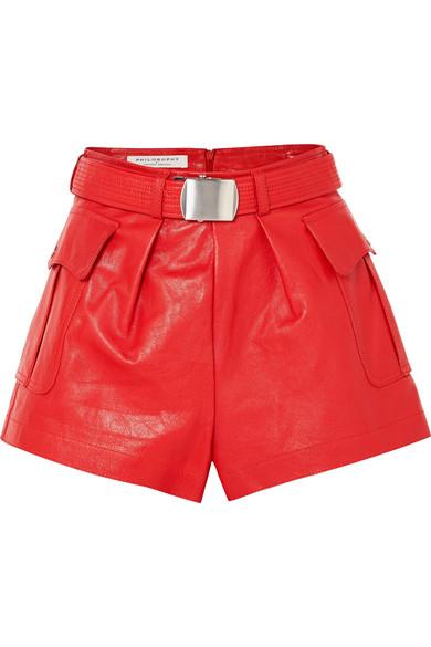 Philosophy di Lorenzo Serafini Shorts aus Leder