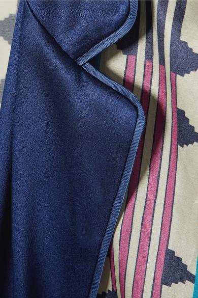 F.R.S For Restless Sleepers Eurinome Maxikleid aus einer bedruckten Baumwoll-Seidenmischung mit Gürtel