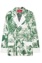 Philotes printed cotton and silk-blend twill shirt