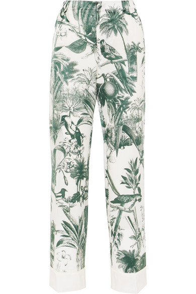 F.r.s For Restless Sleepers ETERE PRINTED COTTON AND SILK-BLEND TWILL STRAIGHT-LEG PANTS