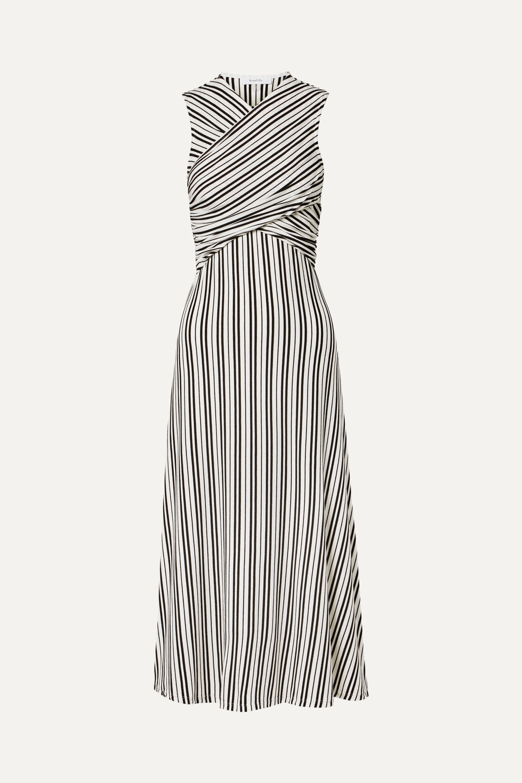 Beaufille Damia striped ribbed-knit midi dress
