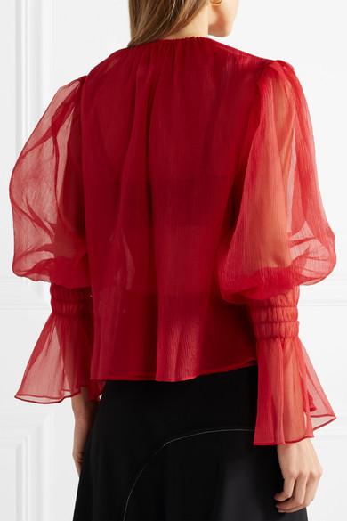 Geniue Händler Verkauf Online Gut Verkaufen Verkauf Online Beaufille Camarina Bluse aus plissiertem Chiffon Neuester Rabatt Besuch Verkauf Der Neuen Ankunft eJaApdmA