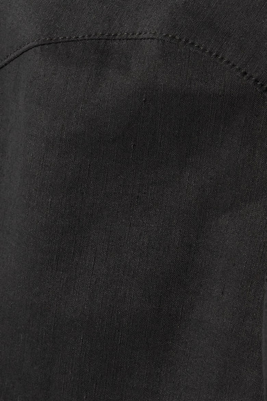 Beaufille Bia schulterfreie Bluse aus einer Leinenmischung