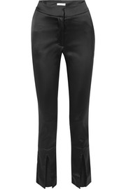 Lenae satin slim-leg pants
