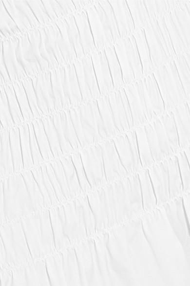 Beaufille Daphne gesmoktes Midikleid aus Popeline aus einer Baumwollmischung