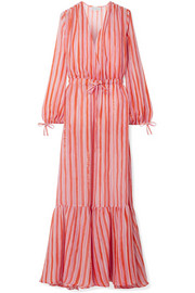 Mira Mikati Love More striped chiffon maxi dress
