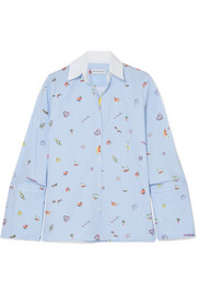 Mira Mikati Venice Beach printed cotton-poplin shirt