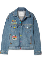 Mira Mikati Venice Beach appliquéd denim jacket