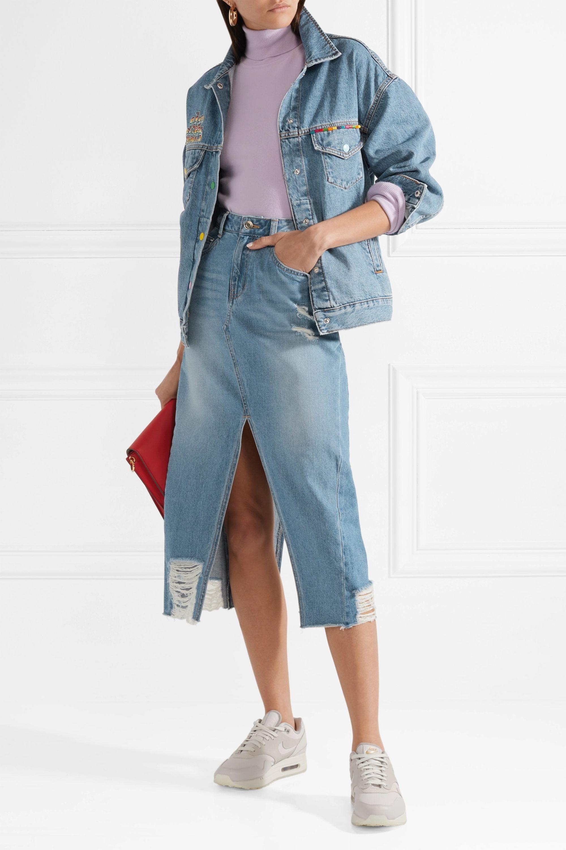 Mira Mikati Veste en jean à appliqués Venice Beach