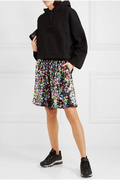 Mira Mikati Shorts aus Tüll mit Pailletten