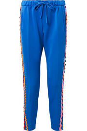 Mira Mikati Rickrack-trimmed stretch-cotton jersey track pants