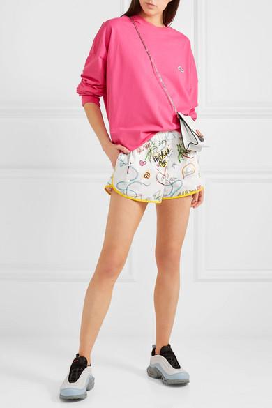 Mira Mikati Bedruckte Shorts aus einer Baumwollmischung