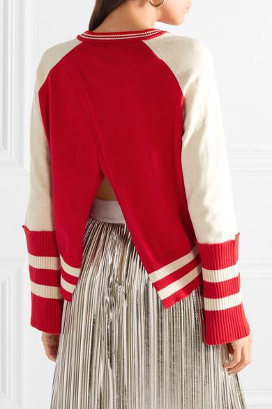 Mira Mikati Pullover aus Baumwolle mit Streifen und Applikationen
