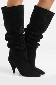 Saint Laurent Era suede knee boots