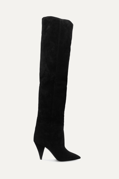 Saint Laurent Era kniehohe Stiefel aus Veloursleder Billig Verkauf Für Billig Günstig Kaufen Ausgezeichnet Sehr Billig Zu Verkaufen Frei Versendende Qualität Niedriger Preis Günstig Kaufen Shop IaBxx