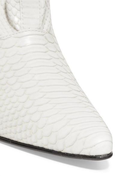 Stella McCartney Stiefel aus Kunstleder mit Schlangeneffekt