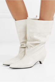 Stella McCartney Snake-effect faux leather boots